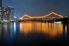 Geschichtebrücke über dem Brisbane-Fluss Lizenzfreies Stockfoto