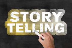 Geschichtenerzählentafel Lizenzfreie Stockfotos