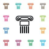 Geschichtsikone Säulen-Vektor-Element kann für Säule, Geschichte, Spalten-Konzept des Entwurfes benutzt werden vektor abbildung