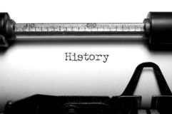 Geschiedenis Royalty-vrije Stock Foto