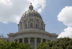 Geschiedenis die het Capitool van de Staat van Missouri in stad Jefferson MO bouwen royalty-vrije stock afbeeldingen