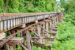Geschiedenis van de de trein de houten structuur van de doodsspoorweg van Wereldoorlog II Stock Foto's