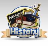Geschiedenispictogram royalty-vrije stock fotografie