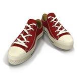 Geschikt voor de tennisschoenen van sportenmensen Voorgesteld op een wit 3D Illustratie Royalty-vrije Stock Afbeeldingen