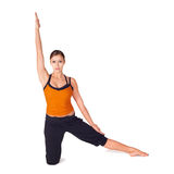 Geschikte het Praktizeren van de Vrouw Yoga Royalty-vrije Stock Afbeeldingen
