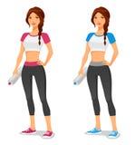 Geschikte jonge vrouw in sportkleding Stock Afbeeldingen