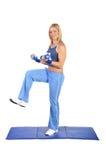 Geschikte jonge vrouwelijke pilatesinstructeur Royalty-vrije Stock Afbeeldingen