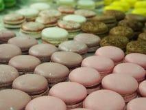 Geschikte macaron koekjes Stock Afbeeldingen