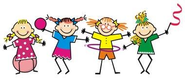 Geschiktheid, meisje en gymnastiek, vector enige illustratie Royalty-vrije Stock Fotografie