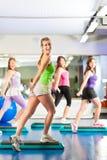 Geschiktheid - Opleiding en training in gymnastiek Stock Foto's