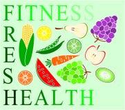 Geschiktheid, vers en gezondheid Stock Foto's