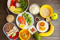 Geschiktheids gezond voedsel Royalty-vrije Stock Afbeeldingen