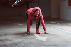 Geschiktheidsatleet Runner Woman Stock Afbeelding