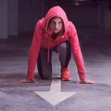 Geschiktheidsatleet Runner Woman Royalty-vrije Stock Foto