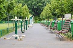 Geschiktheidsmachines in park Stock Foto's