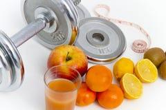 Geschiktheidsmateriaal en gezond voedsel, appel, nectarines, kiwi, lem Stock Fotografie
