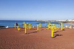 Geschiktheidsvlek in Playa-Blanca bij Royalty-vrije Stock Foto's