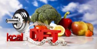 Geschiktheidsvoedsel, dieet stock afbeelding