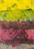 Geschilderd abstract patroon met cirkels Stock Foto's