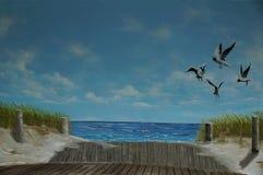 Geschilderd beeld van bandshell stock fotografie