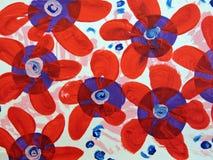 Geschilderd bloemenpatroon Stock Foto