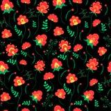 Geschilderd BloemenPatroon Stock Afbeeldingen