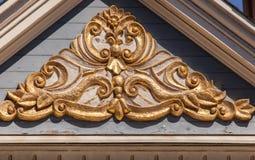 Geschilderd Dame architecturaal detail Royalty-vrije Stock Afbeeldingen