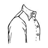 geschilderd die kokeroverhemd op witte achtergrond wordt geïsoleerd Royalty-vrije Stock Afbeeldingen