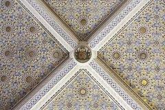 Geschilderd en verfraaid plafond Stock Afbeeldingen