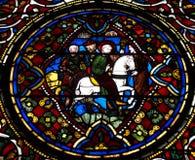 Geschilderd glas Canterbury Stock Foto