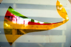 Geschilderd Glas Met de hand gemaakt het werkideaal voor abstracte achtergronden Royalty-vrije Stock Foto