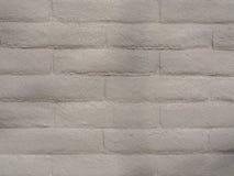 Geschilderd Gray Brick Wall, Achtergrondtextuur Royalty-vrije Stock Afbeelding