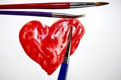 Geschilderd hart Stock Afbeelding