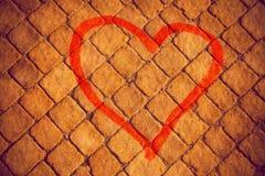 Geschilderd hart stock afbeeldingen