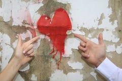 Geschilderd hart Royalty-vrije Stock Afbeelding