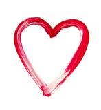 Geschilderd hart - symbool van liefde stock fotografie