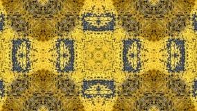 Geschilderd het ontwerp van de Grungestijl geel met blauwe sporen en sporen van roest royalty-vrije stock foto