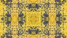 Geschilderd het ontwerp van de Grungestijl geel met blauwe sporen en sporen van roest royalty-vrije stock afbeeldingen