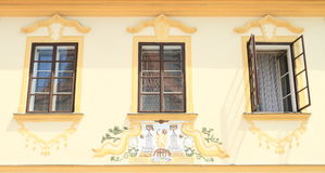 Geschilderd huis Royalty-vrije Stock Afbeelding