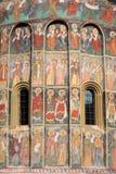 Geschilderd klooster Stock Foto
