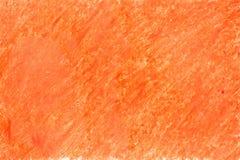 Geschilderd op document kleurpotloodsinaasappel Stock Foto