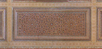 Geschilderd Overladen Moors Plafond Stock Afbeelding