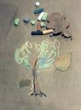 Geschilderd pastelkleurhout stock afbeelding