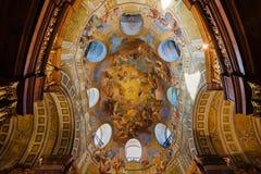 Geschilderd Plafond van Oostenrijkse Nationale Bibliotheek stock afbeelding