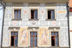 Geschilderd renaissancehuis Stock Fotografie