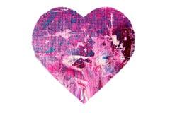 Geschilderd Roze Hart Royalty-vrije Stock Foto