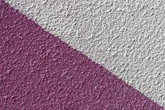 Geschilderd wit en roze pleisterclose-up, textuur, achtergrond royalty-vrije stock foto