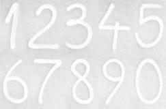 Geschilderde aantallen Stock Foto's