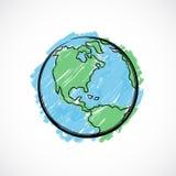Geschilderde Aarde Royalty-vrije Stock Afbeelding