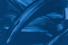 Geschilderde achtergrond Abstract blauw vloeibaar patroon Stock Afbeeldingen